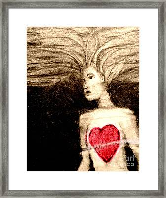 Floating Heart Framed Print