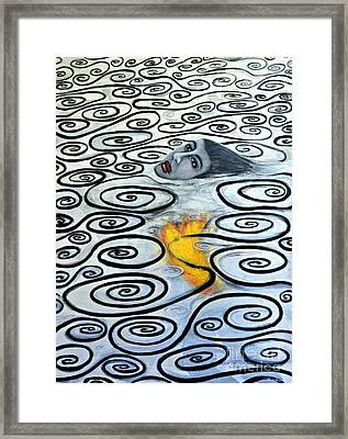 Floating Hearts Sixteen Framed Print