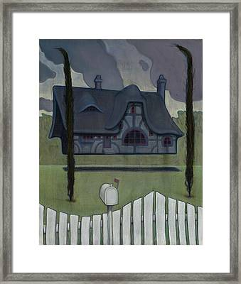 Floating House Framed Print