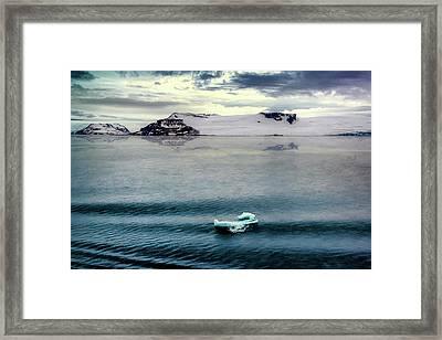 Floating Ice Framed Print