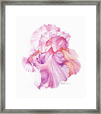 Floating Iris 1 Framed Print