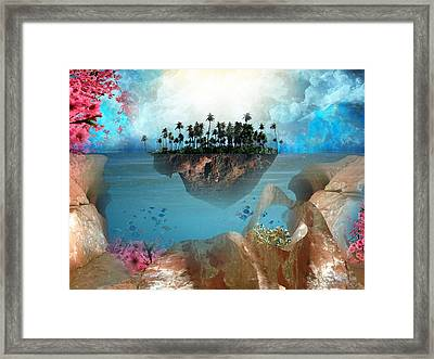 Floating Island Framed Print by Adrienne McMahon