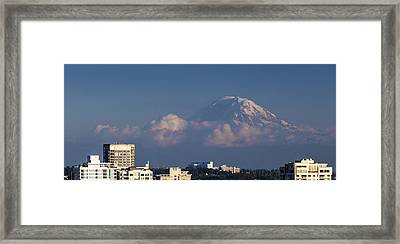Floating Mountain Framed Print