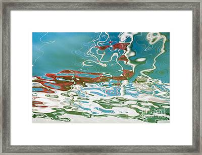 Floating On Blue 35 Framed Print by Wendy Wilton