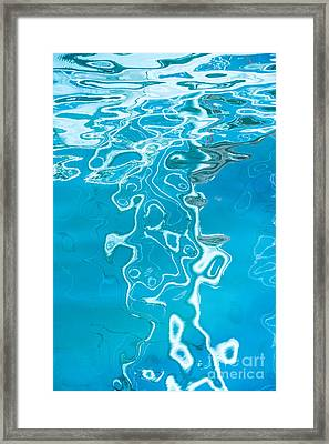 Floating On Blue 38 Framed Print by Wendy Wilton