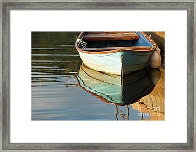 Framed Print featuring the photograph Floating On Blue 44 by Wendy Wilton
