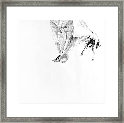 Floating On Clouds, 2015, 50-50cm, Graphite Crayon On Paper Framed Print by Oana Unciuleanu