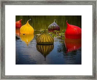 Floating Orbs Framed Print