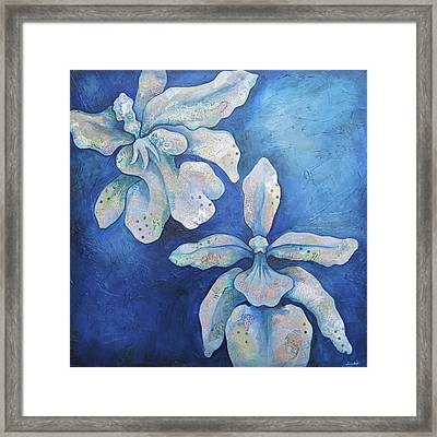 Floating Orchid Framed Print by Shadia Derbyshire