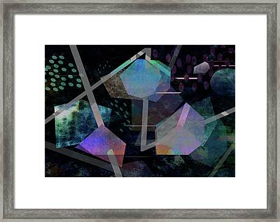 Floating Original Abstract Art Framed Print by Ann Powell