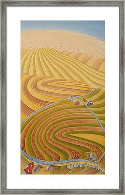 Floating Over Fields II Framed Print