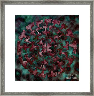 Framed Print featuring the drawing Floating by Patricia Januszkiewicz