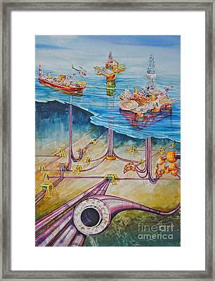 Floating Pipelines  Framed Print