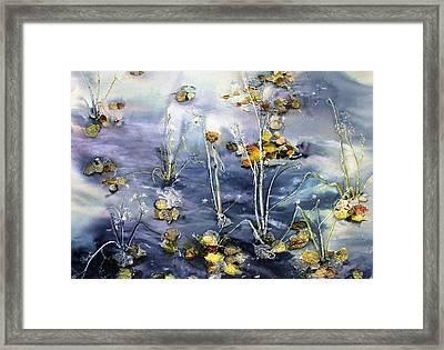 Floating Pond Leaves Framed Print