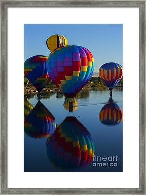 Floating Reflections Framed Print by Mike Dawson
