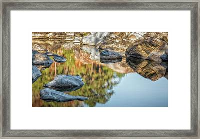 Framed Print featuring the photograph Floating Rocks by James Barber