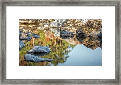 Floating Rocks Framed Print by James Barber