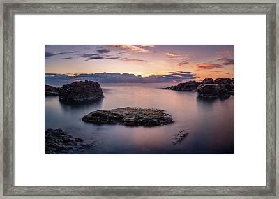 Floating Rocks Framed Print