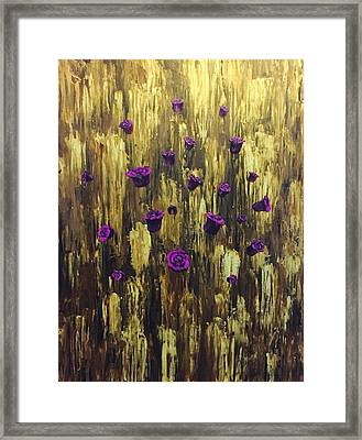 Floating Royal Roses 1 Framed Print