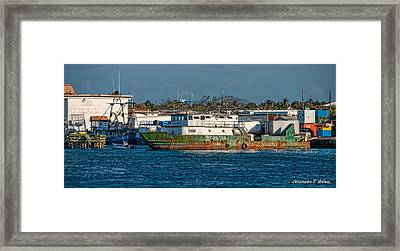 Floating Rust Framed Print by Christopher Holmes