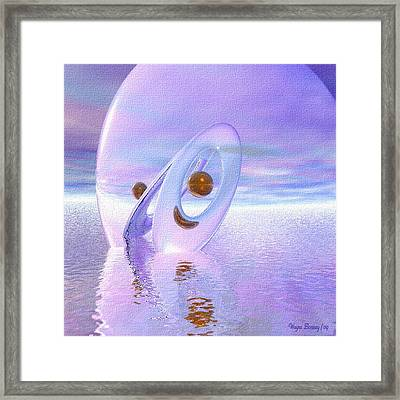 Floating Spheres IIi Framed Print by Wayne Bonney