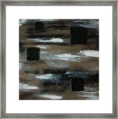 Floating Squares Framed Print by Marsha Heiken