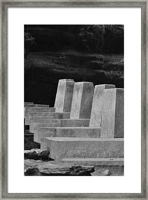 Floating Stone Staircase Framed Print by Peter  McIntosh