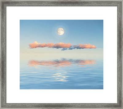Floating Through Blue Framed Print by Jerry McElroy