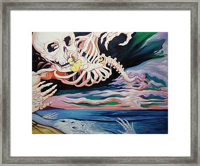 Floating Through Framed Print by Joseph Demaree