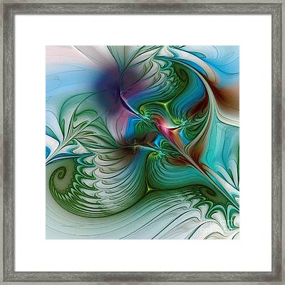 Framed Print featuring the digital art Floating Through The Abyss by Karin Kuhlmann
