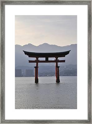 Floating Torii At Itsukushima Shrine Miyajima Japan Framed Print