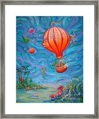Floating Under The Sea Framed Print