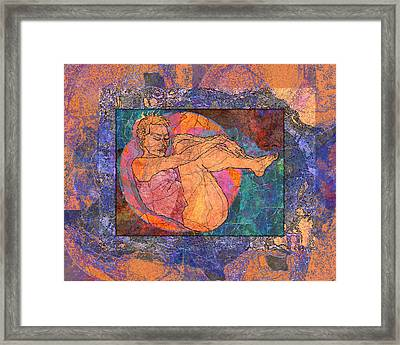 Floating Woman Framed Print by Mary Ogle