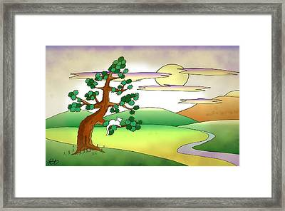 Floating World Cat Framed Print