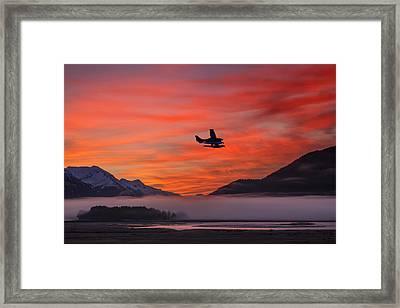Floatplane Takes Off From Juneau Framed Print
