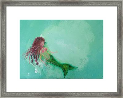 Floaty Mermaid Framed Print by Roxy Rich