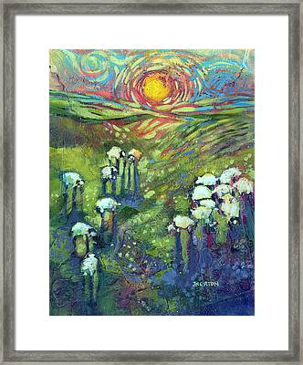 Flock In The Promised Land Framed Print by Jen Norton
