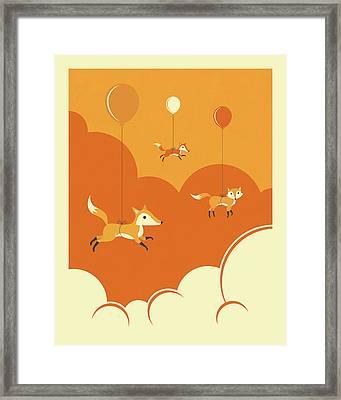 Flock Of Foxes Framed Print