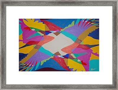 Flock Of Wings Framed Print by Guadalupe Herrera