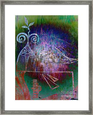Flocking To Abstraction Framed Print
