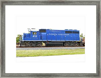 Floirda East Coast Engine Framed Print