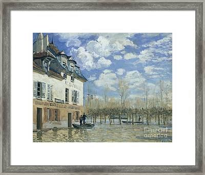 Flood At Port-marly Framed Print by Celestial Images