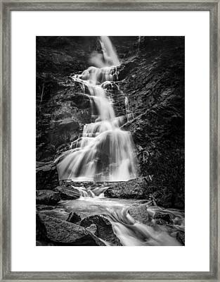 Flood Falls Framed Print