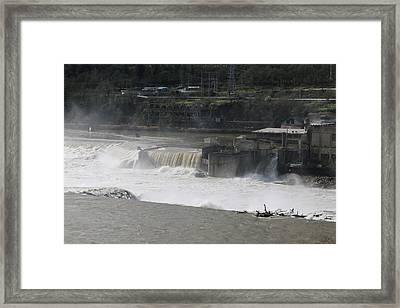 Flooded Falls Framed Print by Viktoria Haggerty