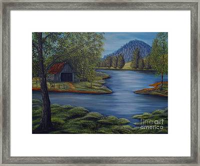 Flooded Farms Framed Print by Vivian Cook