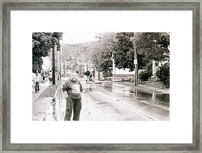 Flooded Streets Of Despair Framed Print by Jeff Porter