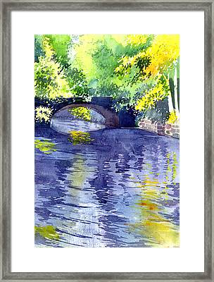 Framed Print featuring the painting Floods by Anil Nene