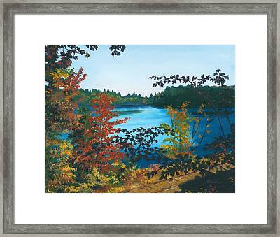 Framed Print featuring the painting Floodwood by Lynne Reichhart