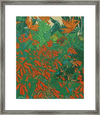 Flora And Fauna Framed Print by Malcolm Warrilow
