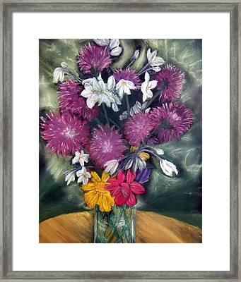 Flora Aura   Pastel Framed Print by Antonia Citrino